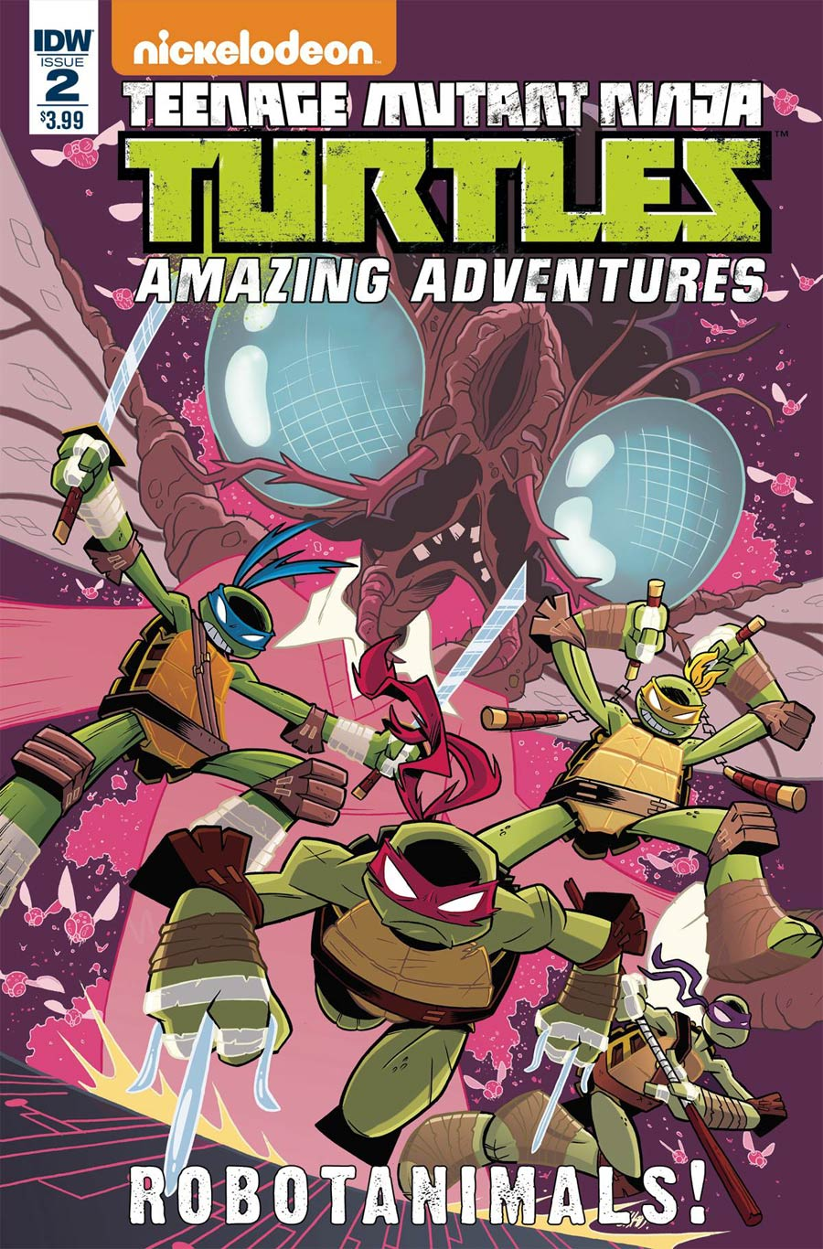 Teenage Mutant Ninja Turtles Amazing Adventures Robotanimals #2 Cover A Regular Chad Thomas Cover