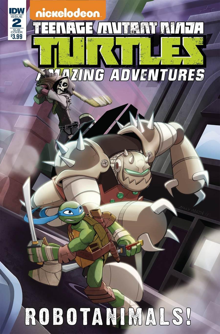 Teenage Mutant Ninja Turtles Amazing Adventures Robotanimals #2 Cover B Variant Billy Martin Cover