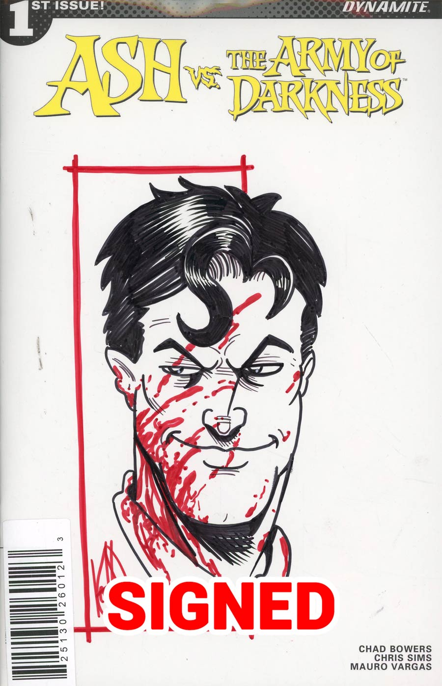 Ash vs The Army Of Darkness #1 Cover J Ken Haeser Remarked Edition