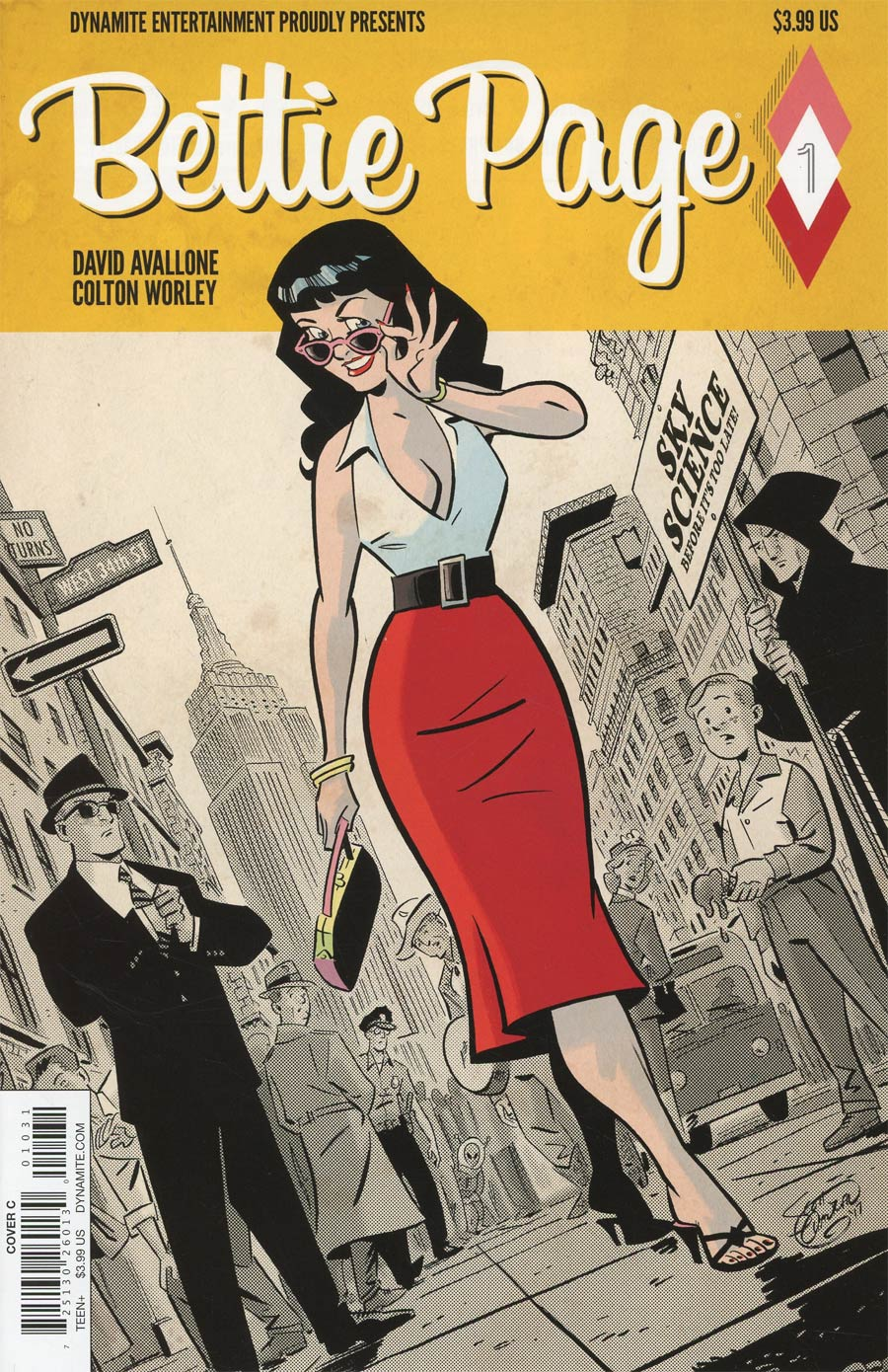 Bettie Page #1 Cover C Variant Scott Chantler Cover