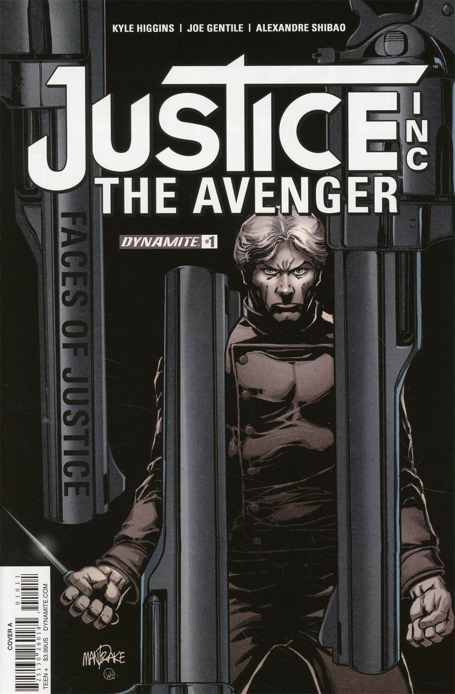 Justice Inc The Avenger Faces Of Justice #1 Cover A Regular Tom Mandrake Cover