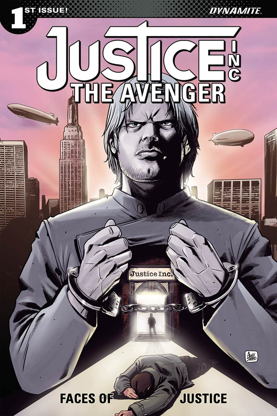 Justice Inc The Avenger Faces Of Justice #1 Cover B Variant Alexandre Shibao Cover