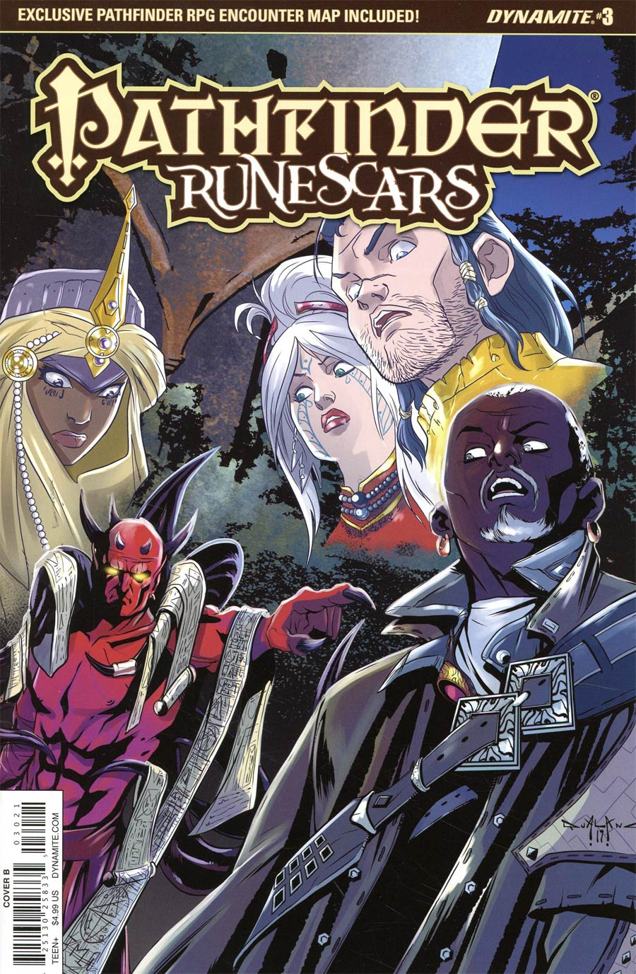 Pathfinder Runescars #3 Cover B Variant Pasquale Qualano Cover