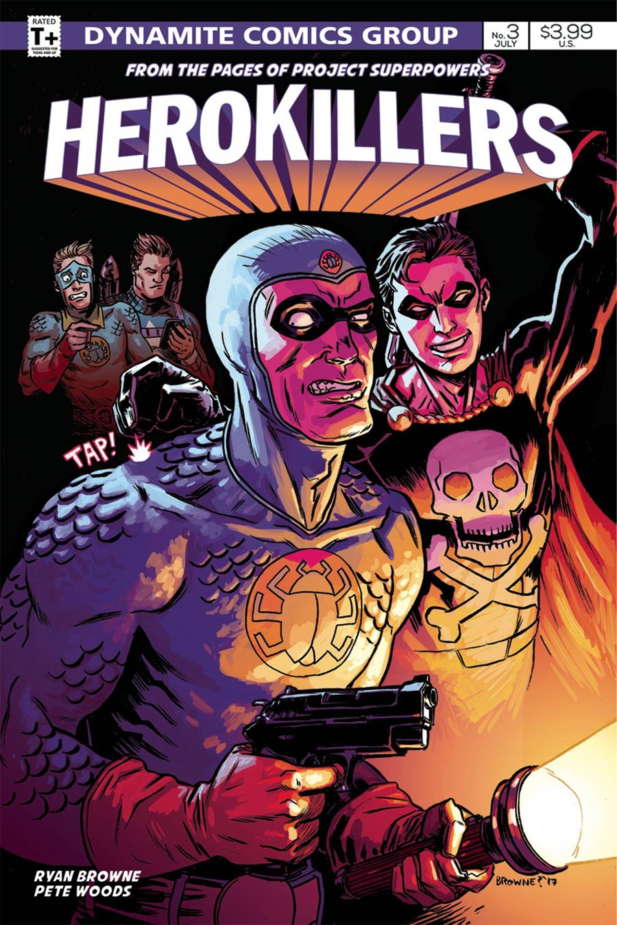 Project Superpowers Hero Killers #3 Cover B Variant Ryan Browne Cover
