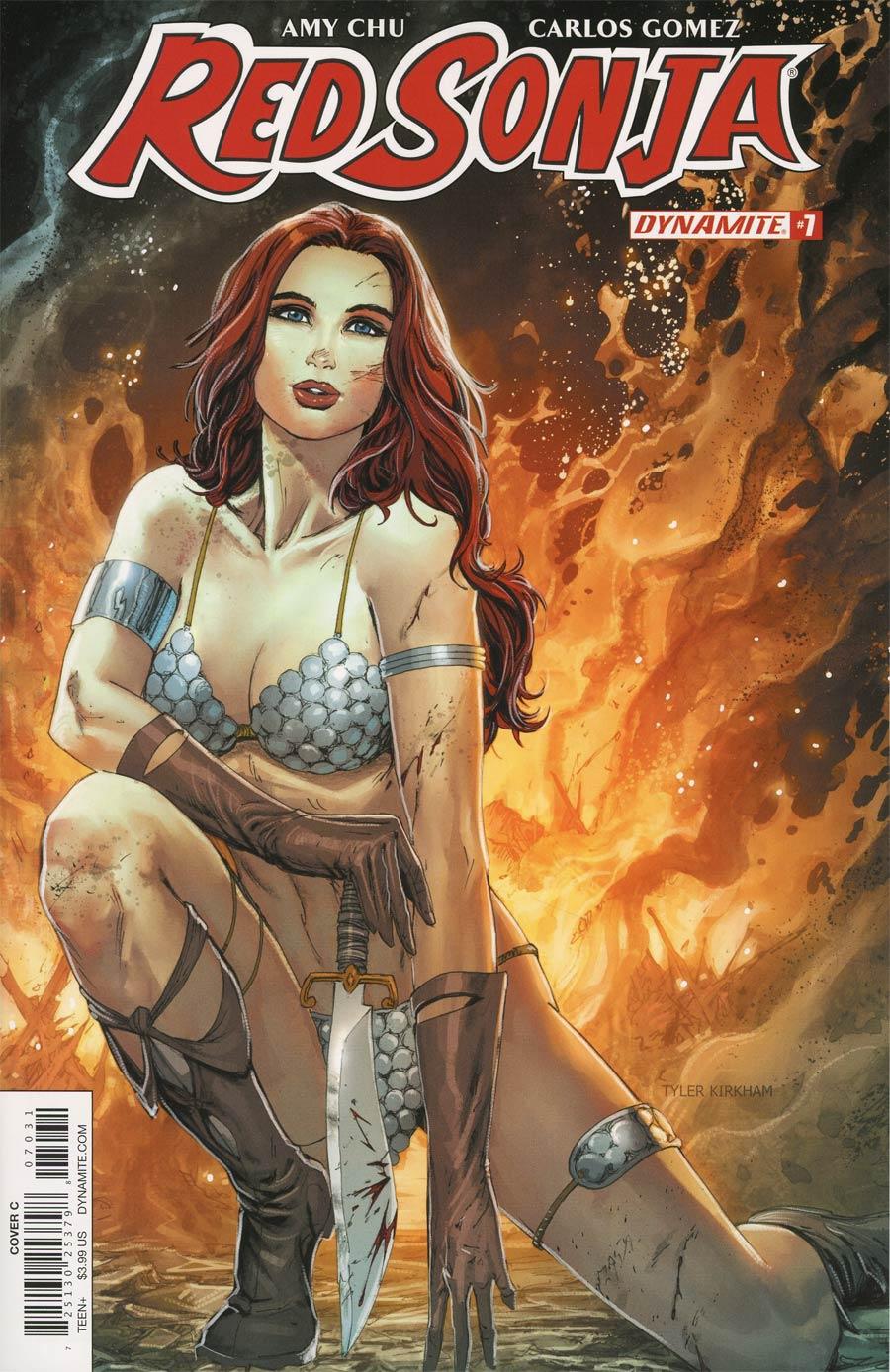 Red Sonja Vol 7 #7 Cover C Variant Tyler Kirkham Cover
