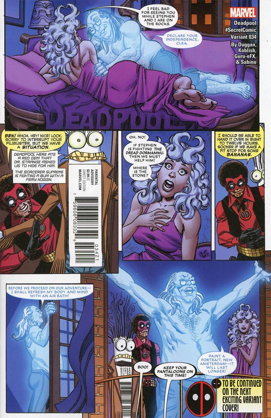 Deadpool Vol 5 #34 Cover B Variant Scott Koblish Secret Comics Cover (Secret Empire Tie-In)