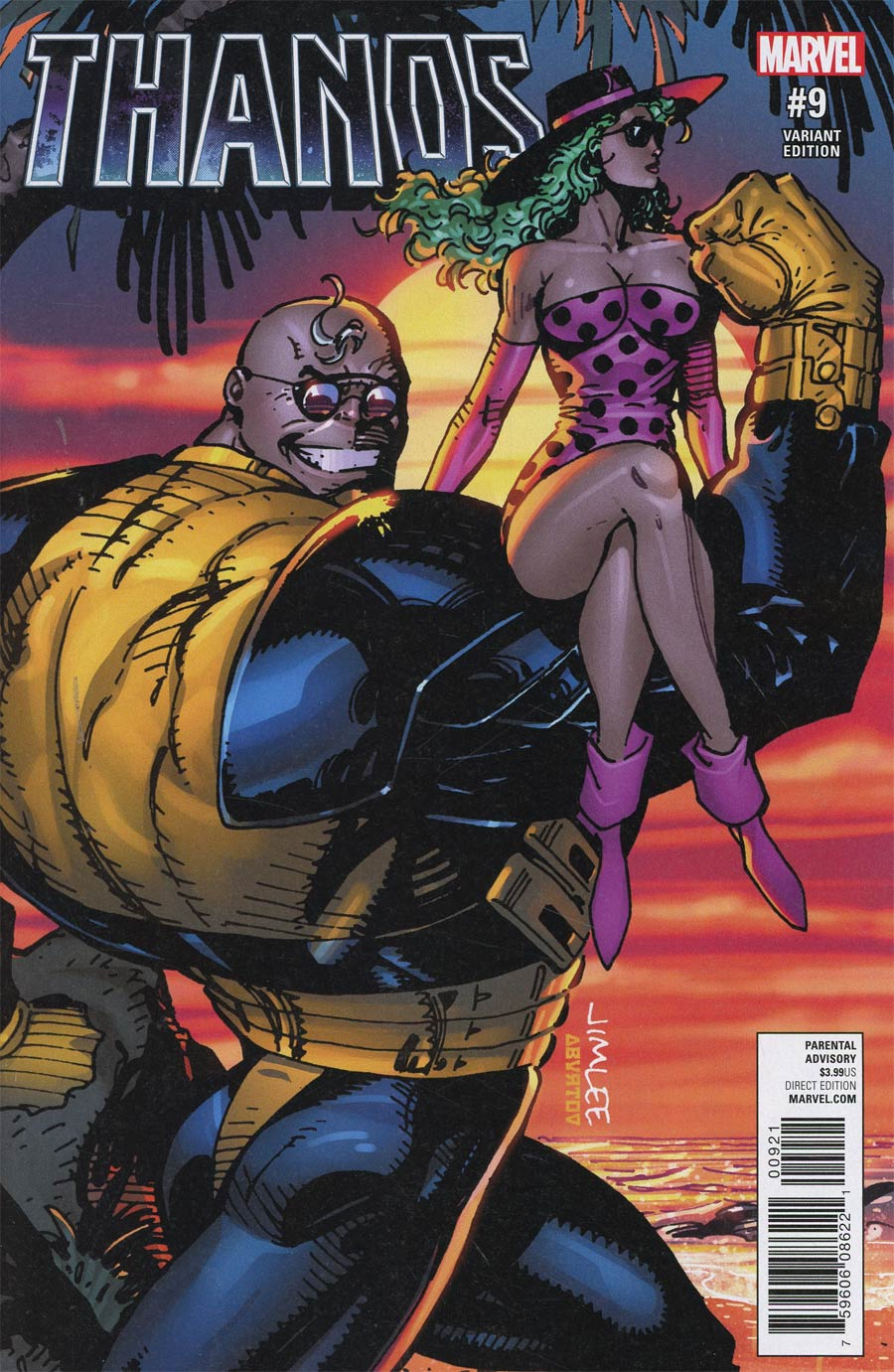 Thanos Vol 2 #9 Cover B Variant Jim Lee X-Men Trading Card Cover