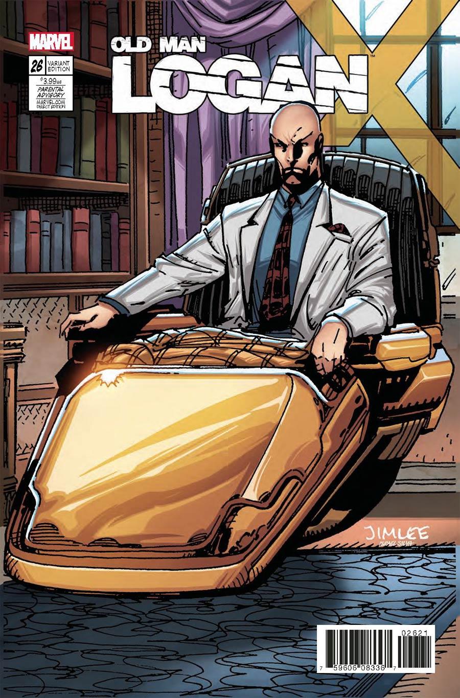 Old Man Logan Vol 2 #26 Cover B Variant Jim Lee X-Men Trading Card Cover