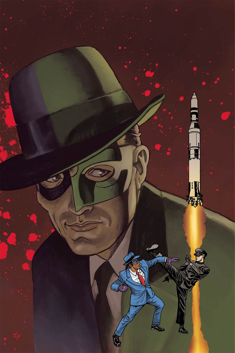 Green Hornet 66 Meets The Spirit #1 Cover F Incentive Ty Templeton Virgin Cover