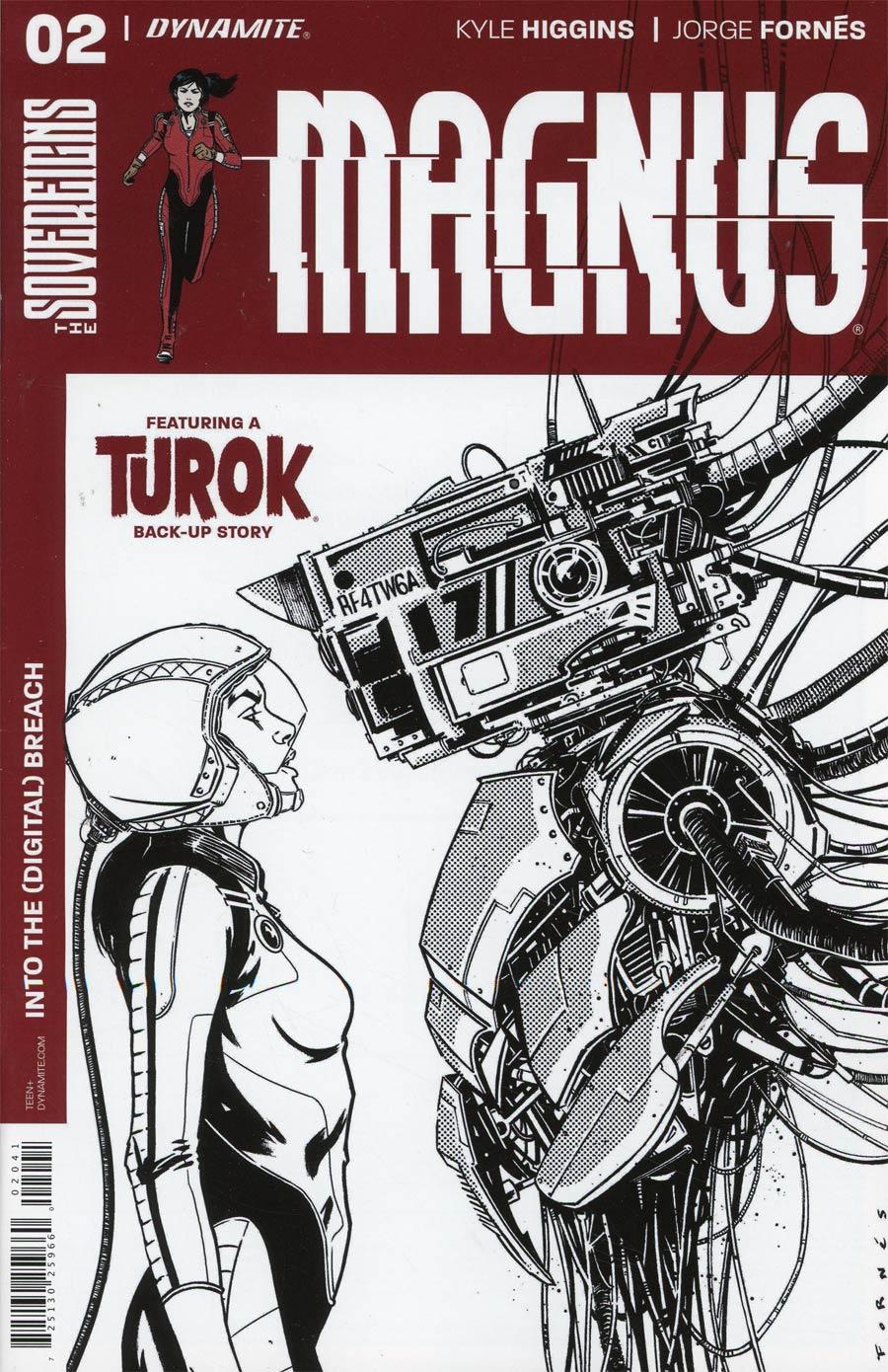 Magnus #2 Cover D Incentive Jorge Fornes Black & White Cover
