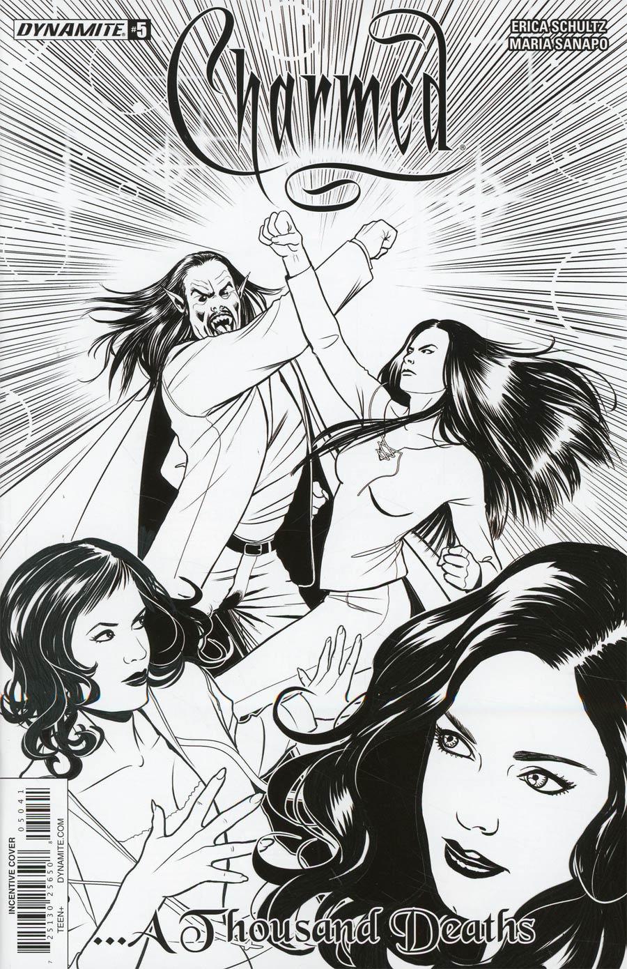 Charmed Vol 2 #5 Cover D Incentive Maria Sanapo Black & White Cover