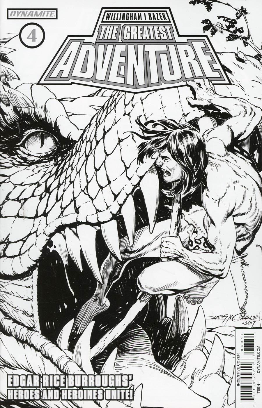 Greatest Adventure #4 Cover E Incentive Rags Morales Black & White Cover