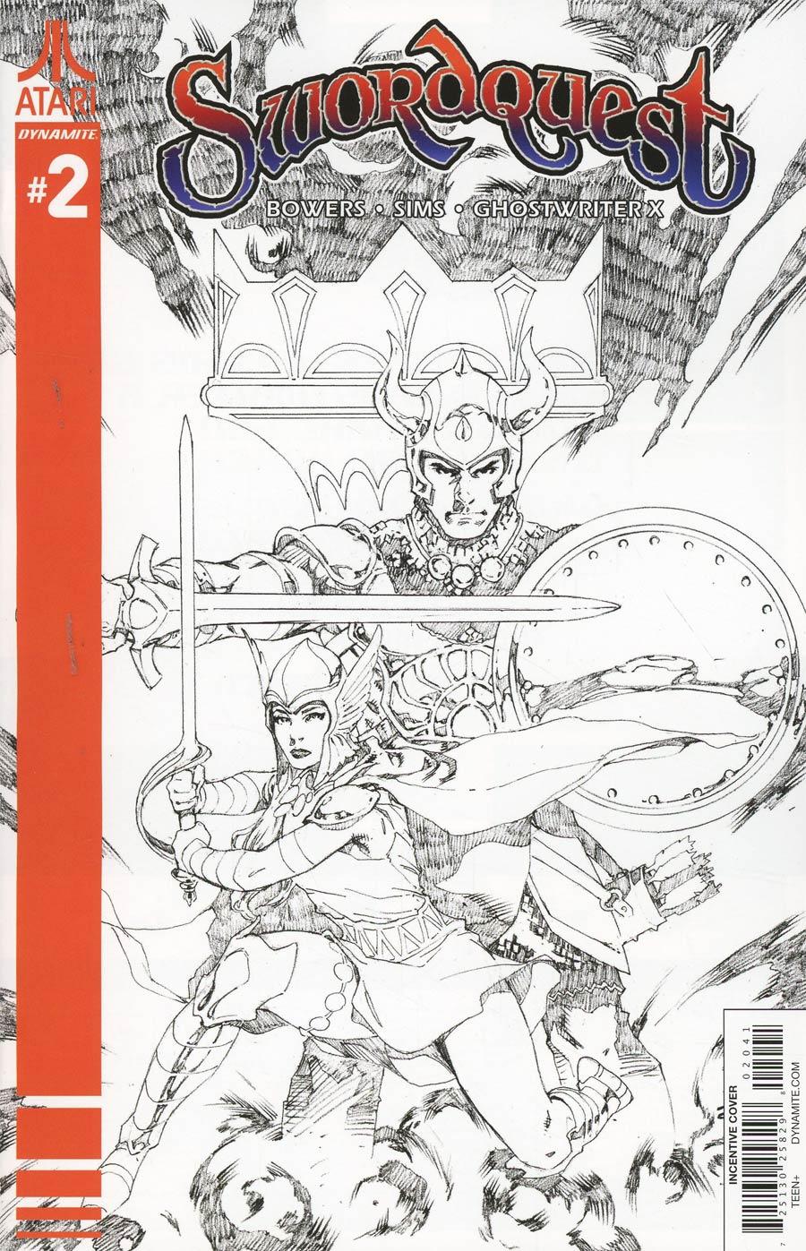 Swordquest #2 Cover D Incentive Mel Rubi Black & White Cover