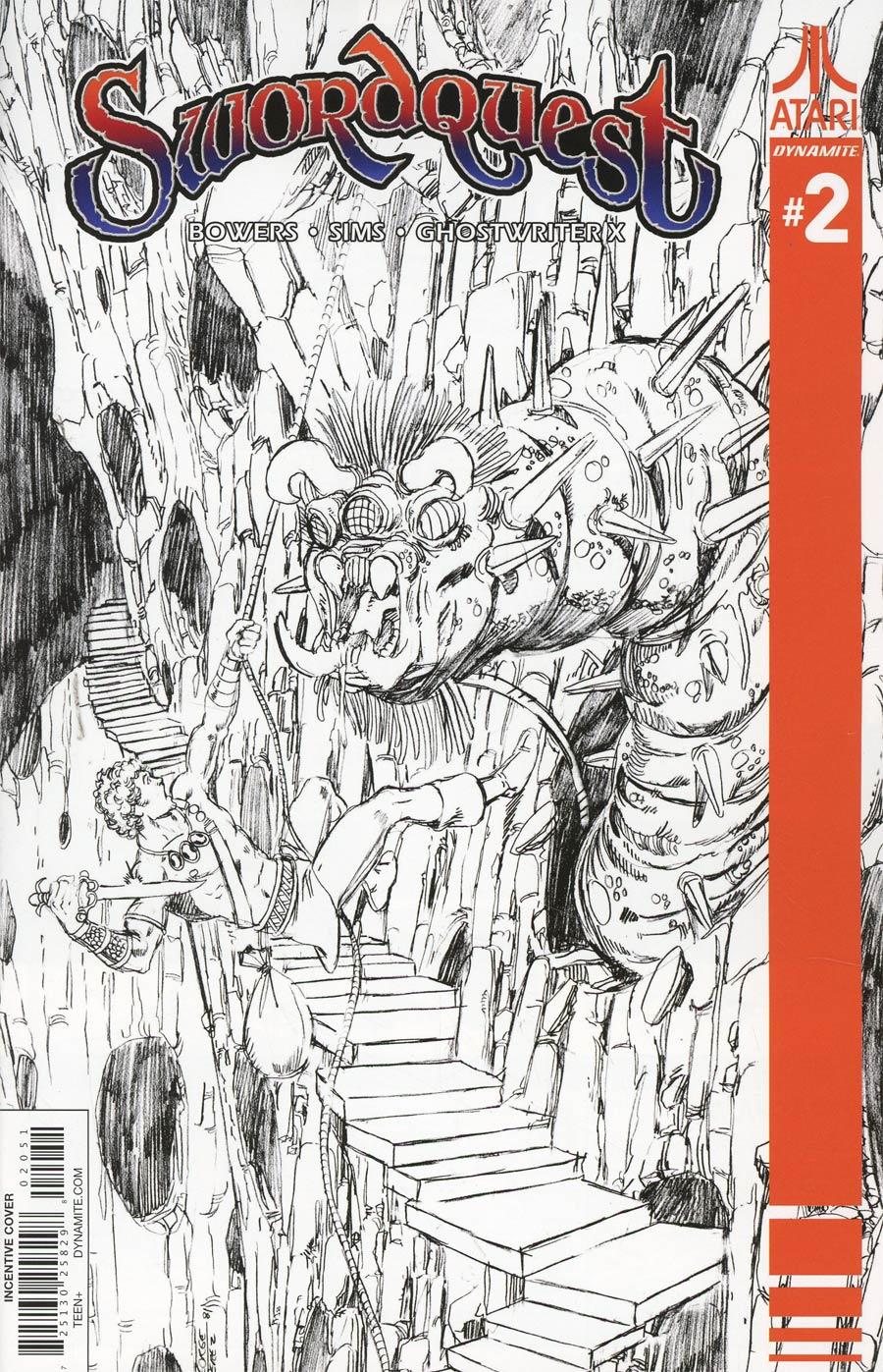 Swordquest #2 Cover E Incentive George Perez Black & White Cover