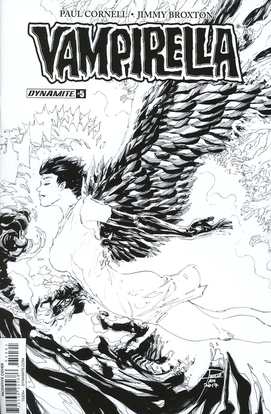 Vampirella Vol 7 #5 Cover F Incentive Philip Tan Black & White Cover