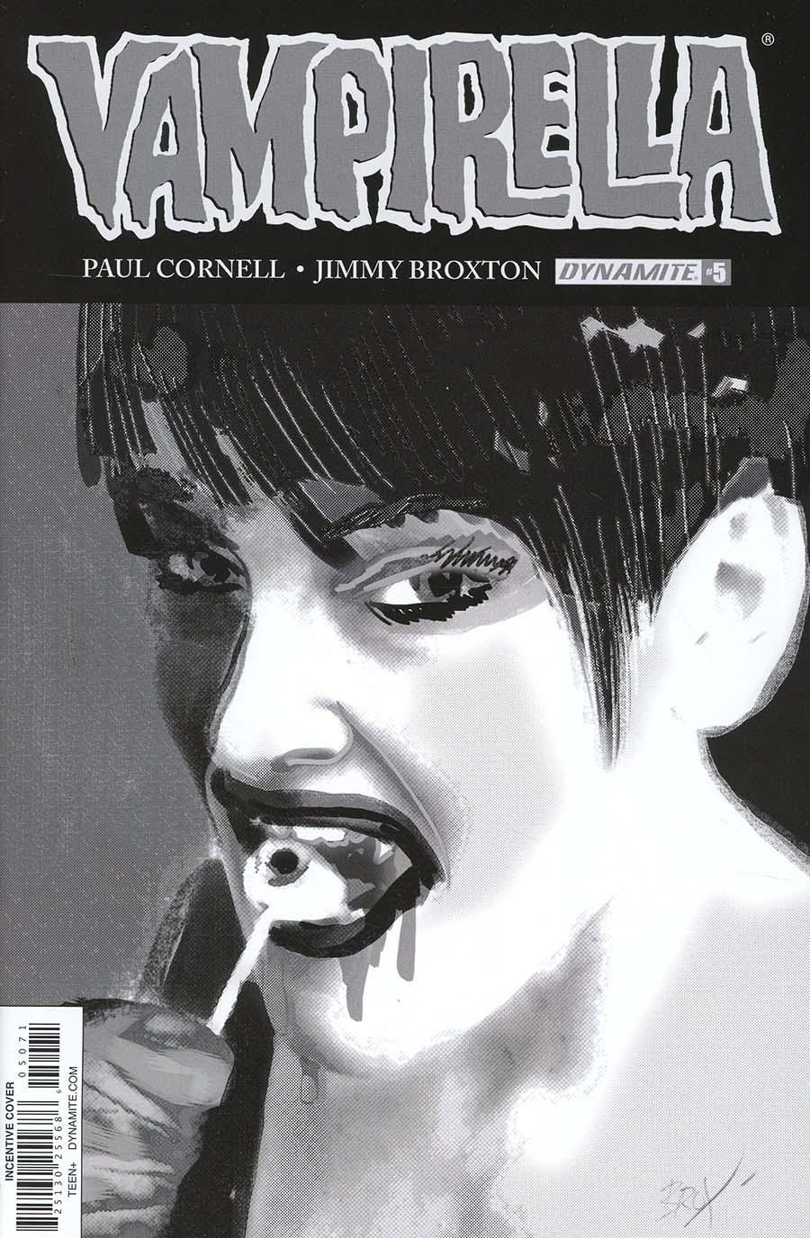 Vampirella Vol 7 #5 Cover G Incentive Jimmy Broxton Black & White Cover