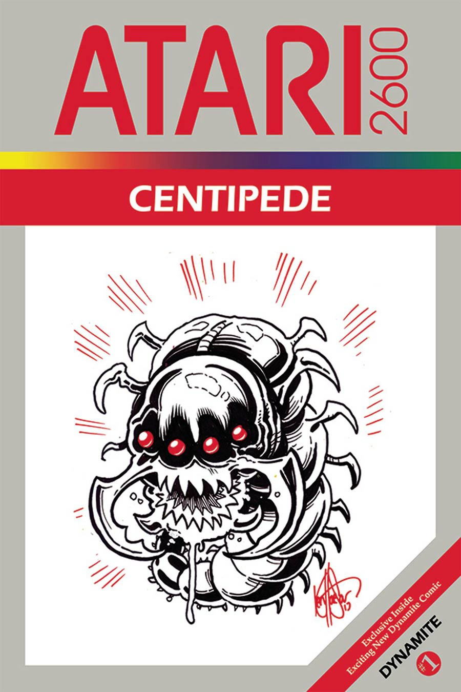 Centipede #1 Cover J DF Signed By Max Bemis & Remarked By Ken Haeser