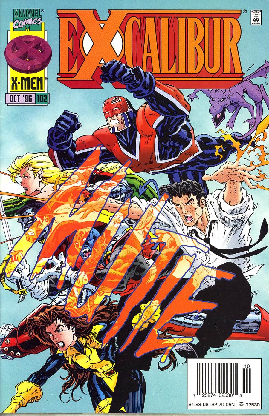 Excalibur #102 Cover C Newsstand Edition