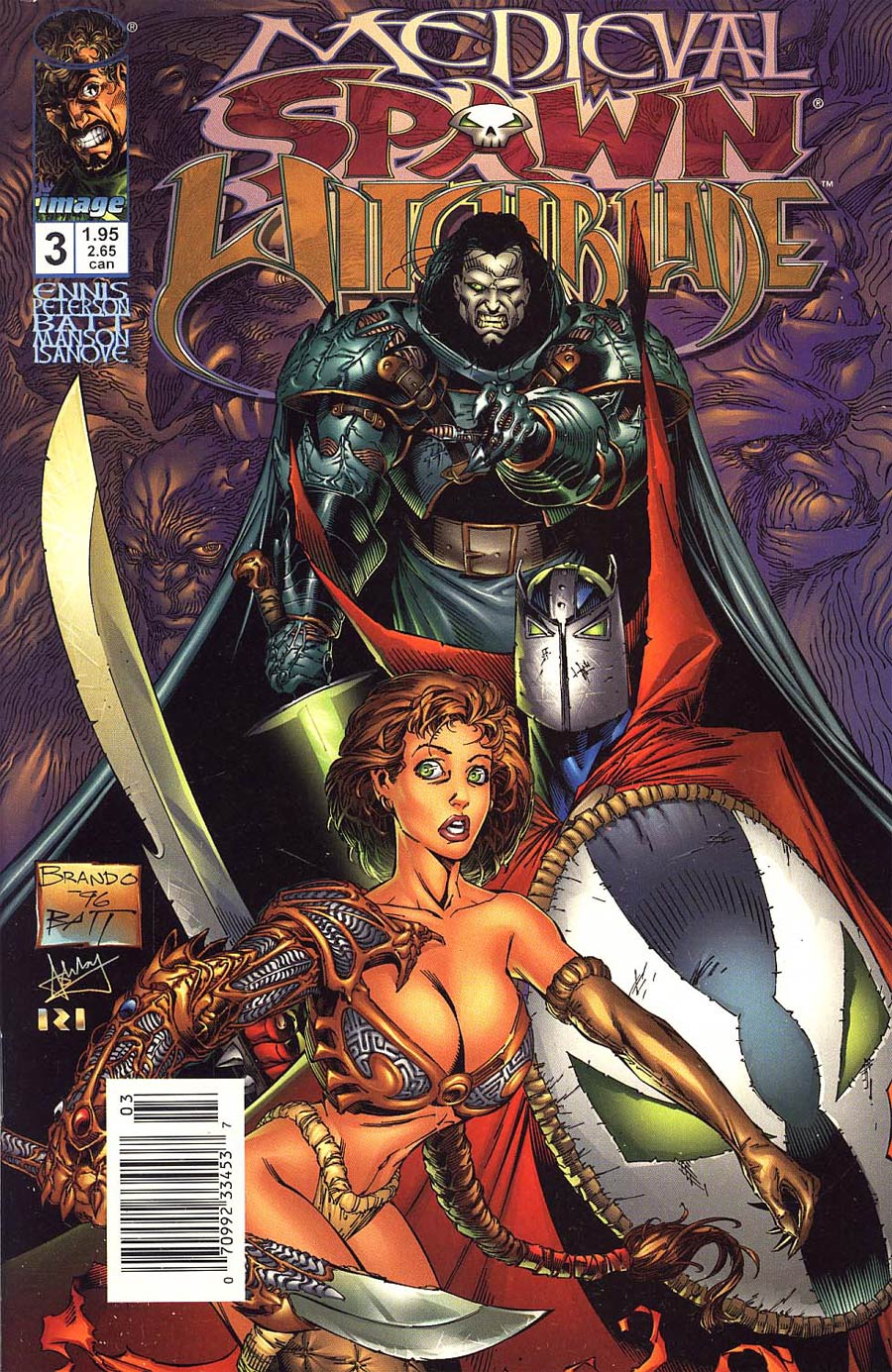 Medieval Spawn Witchblade #3 Cover B Newsstand