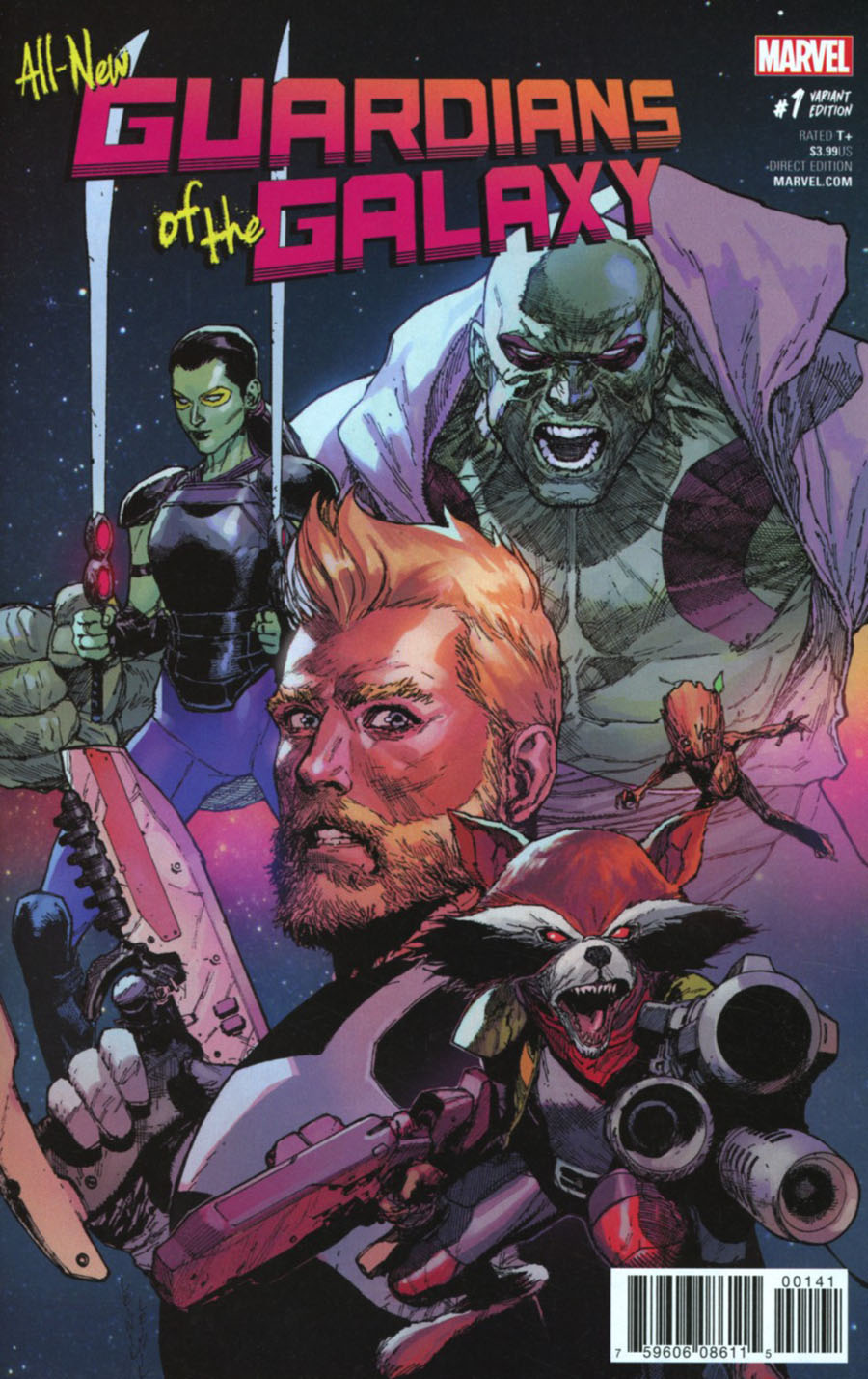 All-New Guardians Of The Galaxy #1 Cover G Incentive Leinil Francis Yu Variant Cover