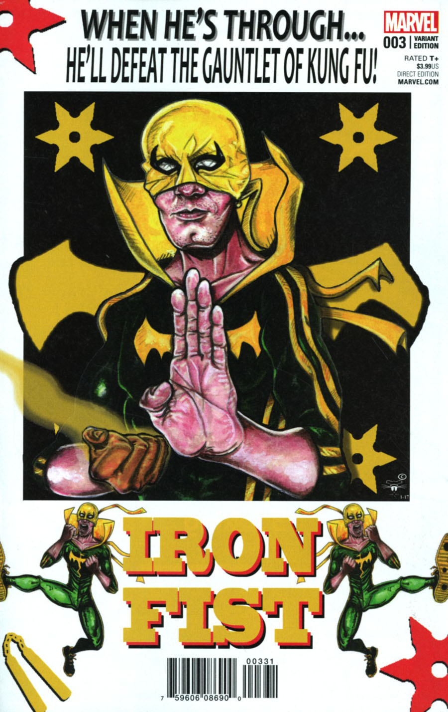 Iron Fist Vol 5 #3 Cover B Incentive Andre Leroy Davis Variant Cover
