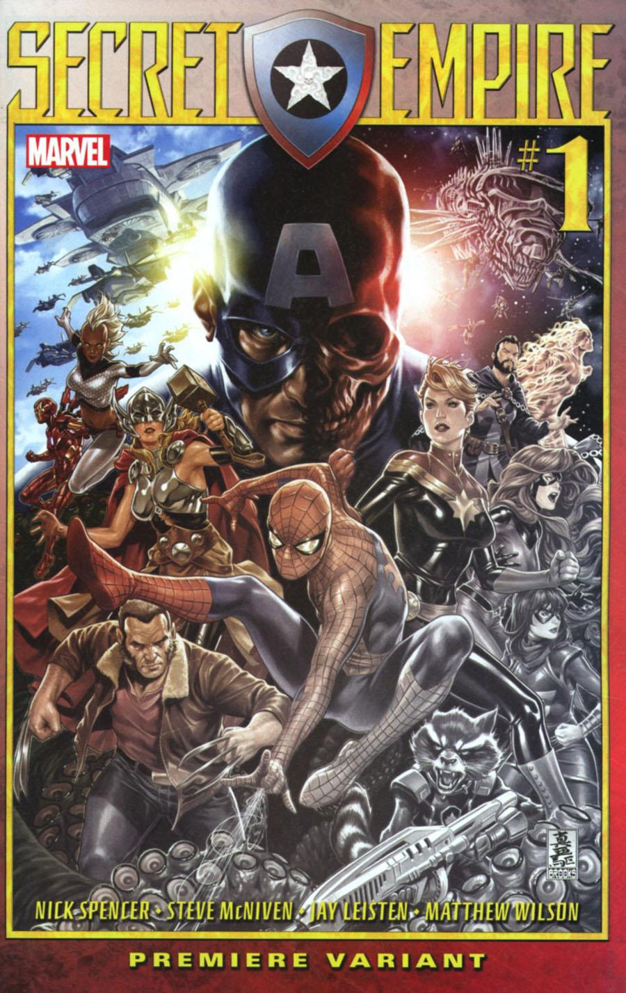 Secret Empire #1 Cover I Incentive Mark Brooks Premium Variant Cover