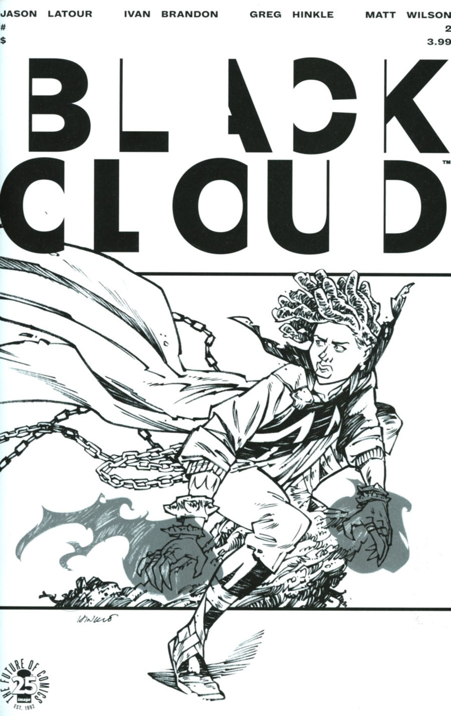 Black Cloud #2 Cover C Variant Greg Hinkle Spawn Month Black & White Cover