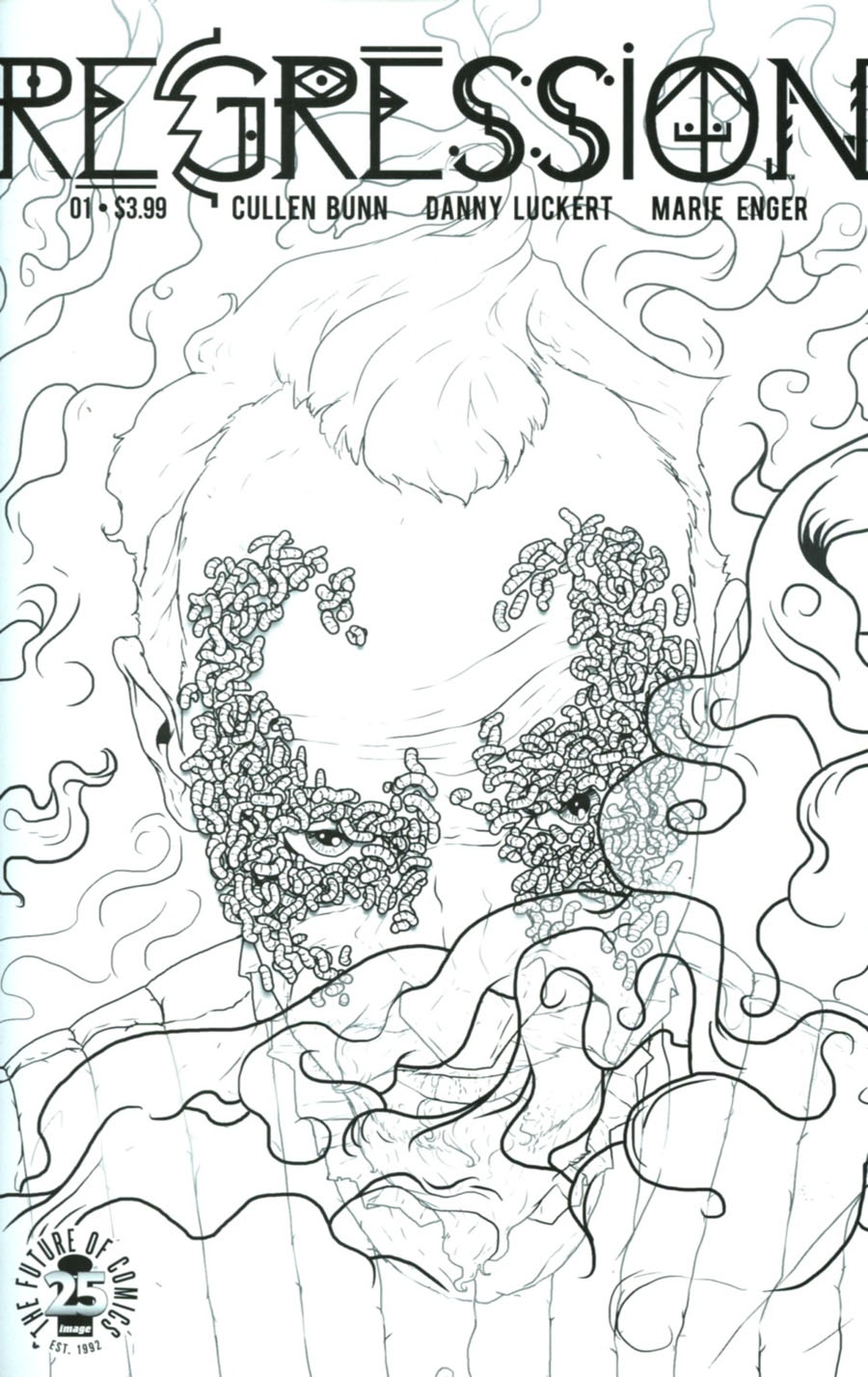 Regression #1 Cover C Variant Danny Luckert Spawn Month Black & White Cover