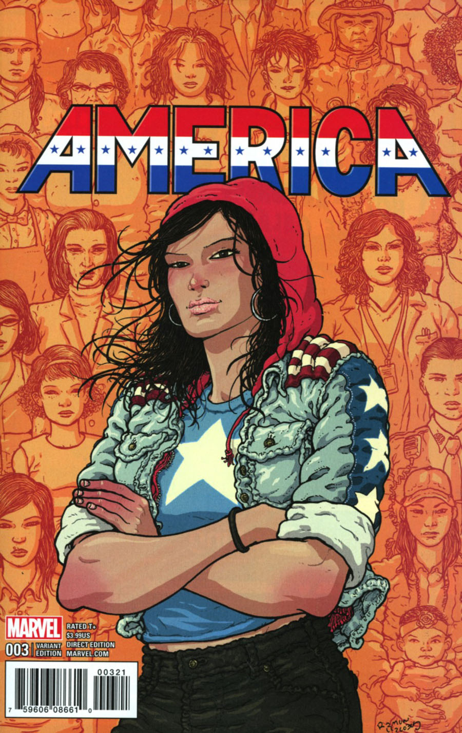 America #3 Cover B Incentive Ramon Villalobos Variant Cover