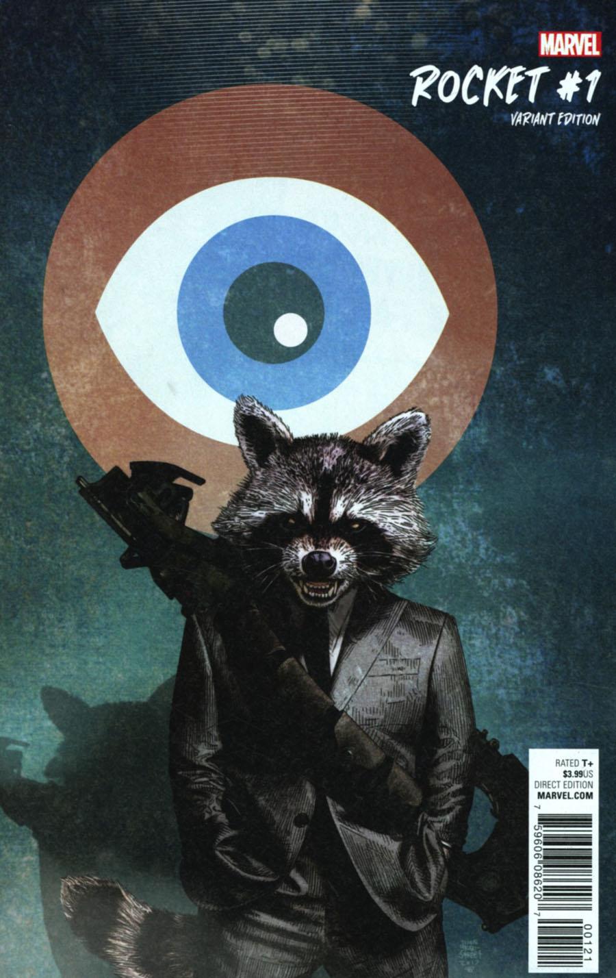 Rocket #1 Cover F Incentive Tim Bradstreet Variant Cover
