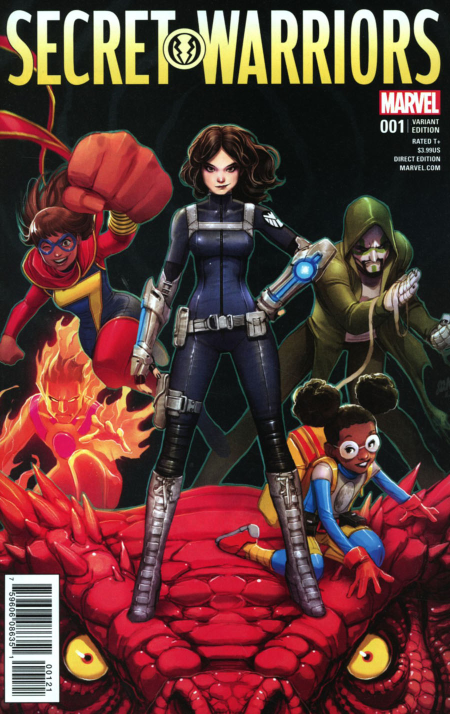 Secret Warriors Vol 2 #1 Cover C Incentive David Nakayama Variant Cover (Secret Empire Tie-In)