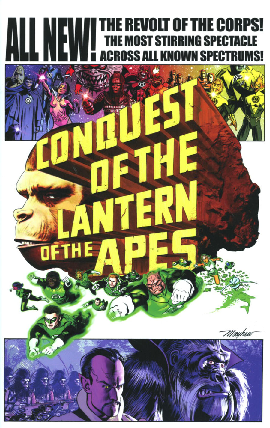 Planet Of The Apes Green Lantern #4 Cover C Incentive Mike Mayhew Movie Poster Virgin Variant Cover