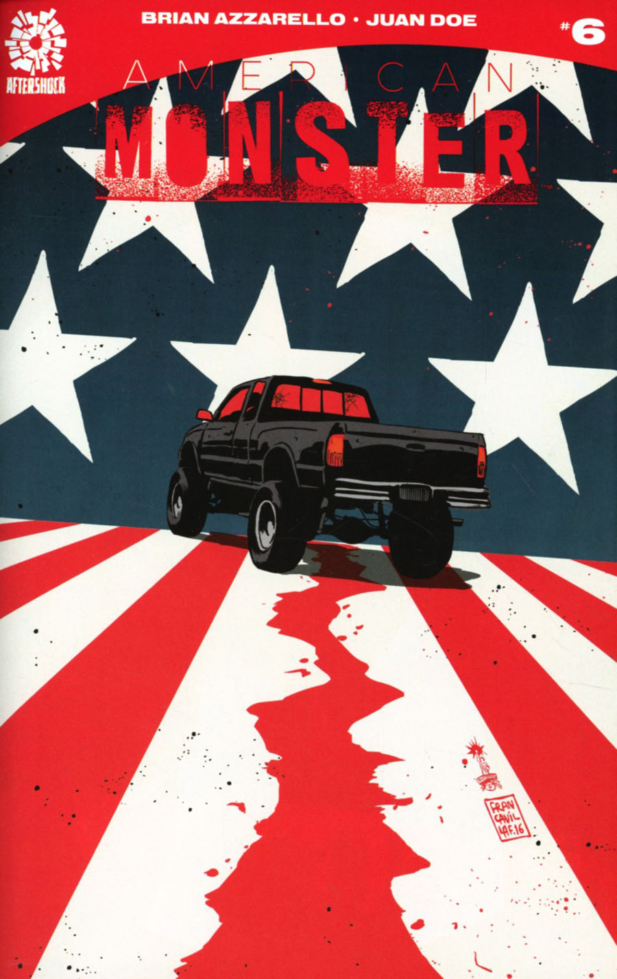 American Monster #6 Cover B Incentive Francesco Francavilla Variant Cover