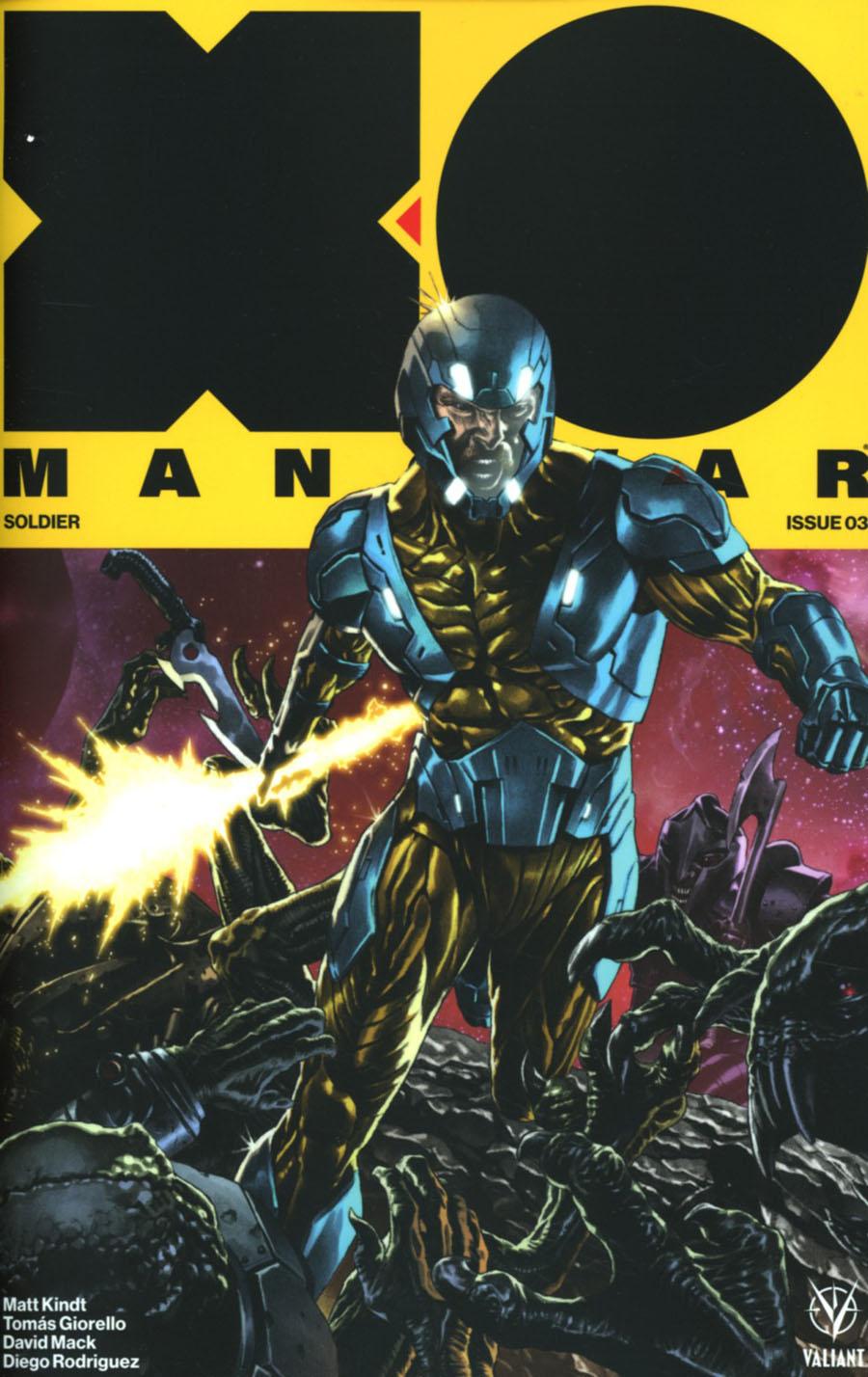 X-O Manowar Vol 4 #3 Cover D Incentive Mico Suayan Interlocking Variant Cover