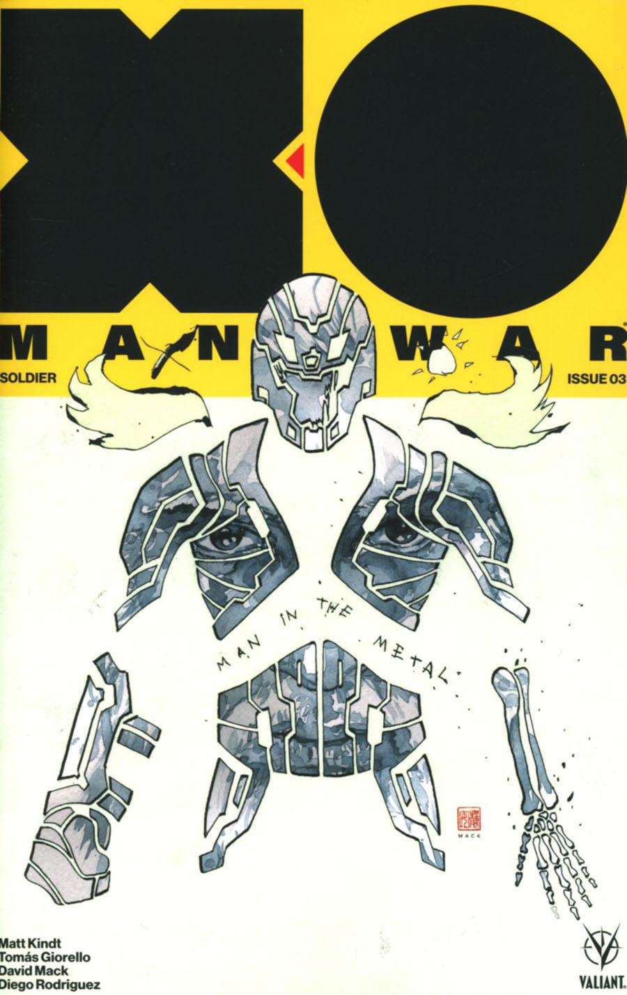 X-O Manowar Vol 4 #3 Cover E Incentive David Mack X-O Manowar Icon Variant Cover