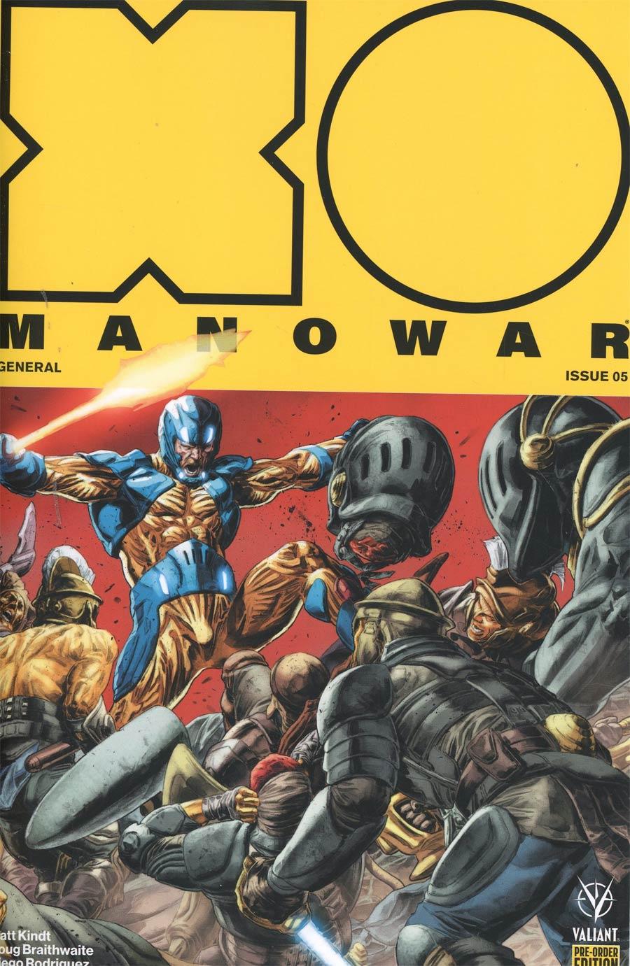 X-O Manowar Vol 4 #5 Cover C Variant Doug Braithwaite Cover