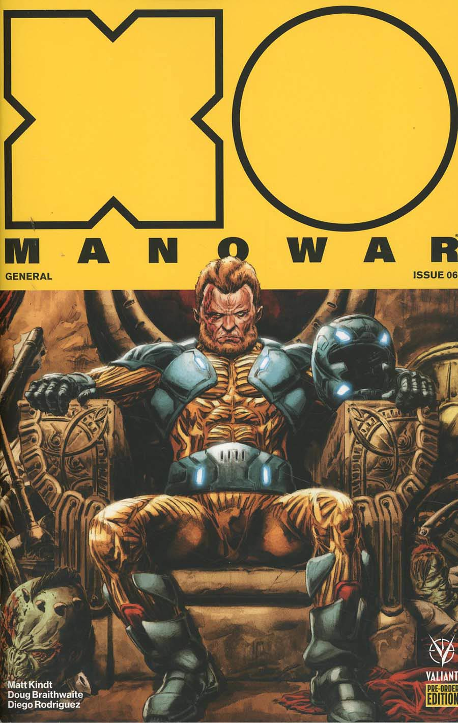 X-O Manowar Vol 4 #6 Cover E Variant Doug Braithwaite Cover