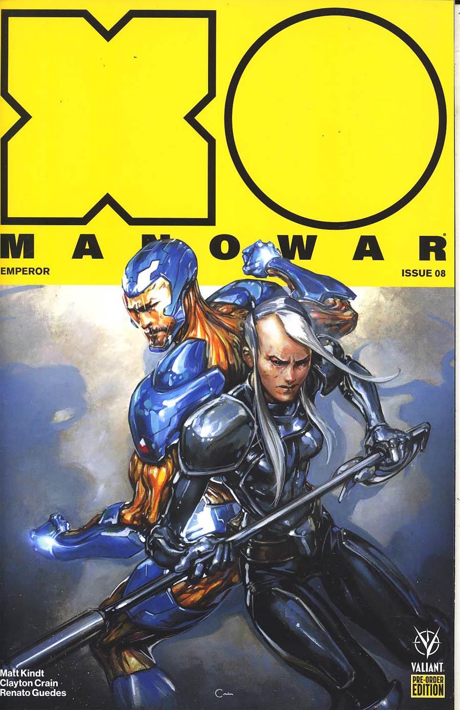 X-O Manowar Vol 4 #8 Cover C Variant Doug Braithwaite Cover
