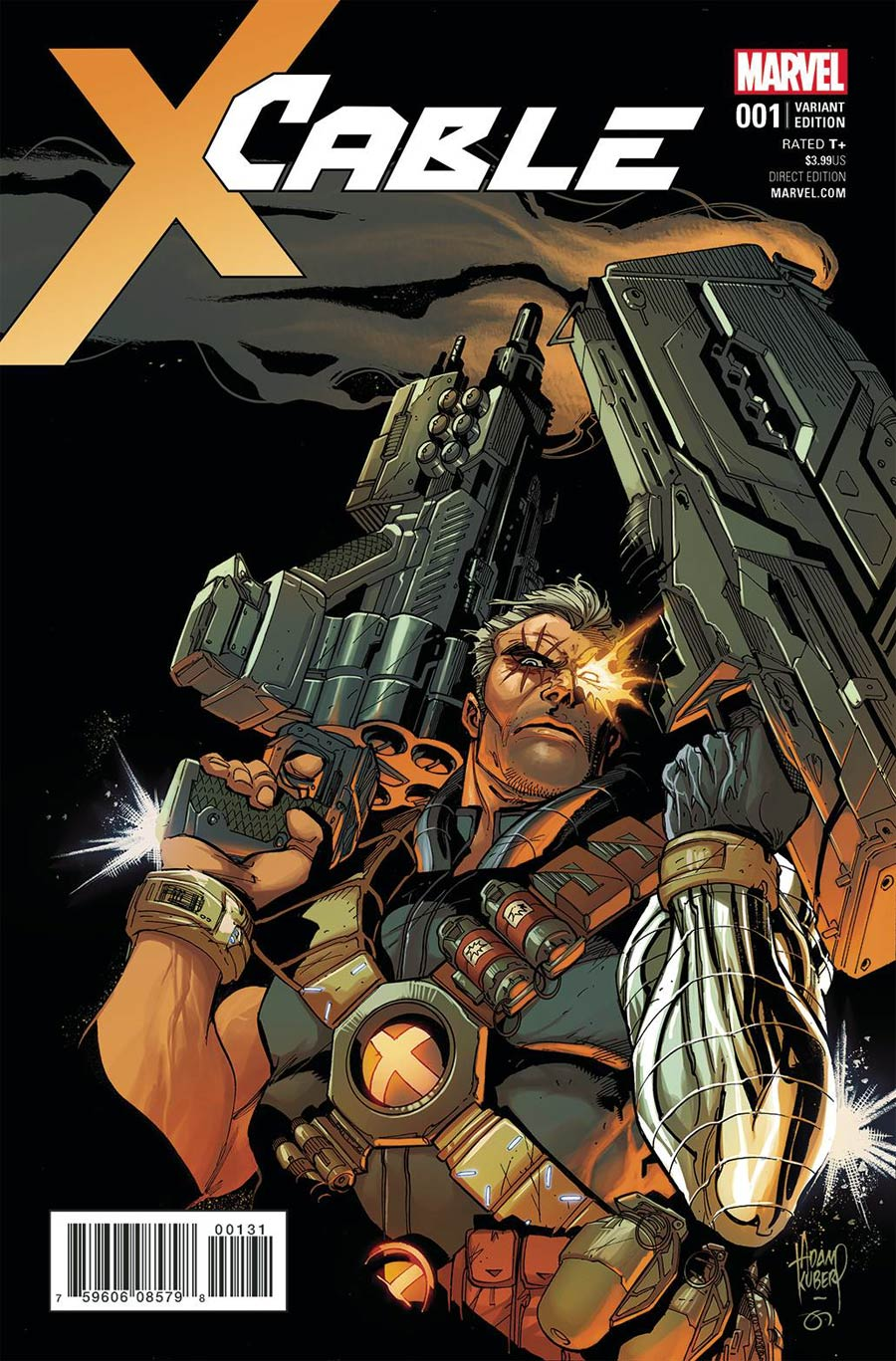 Cable Vol 3 #1 Cover G Incentive Adam Kubert Variant Cover (Resurrxion Tie-In)