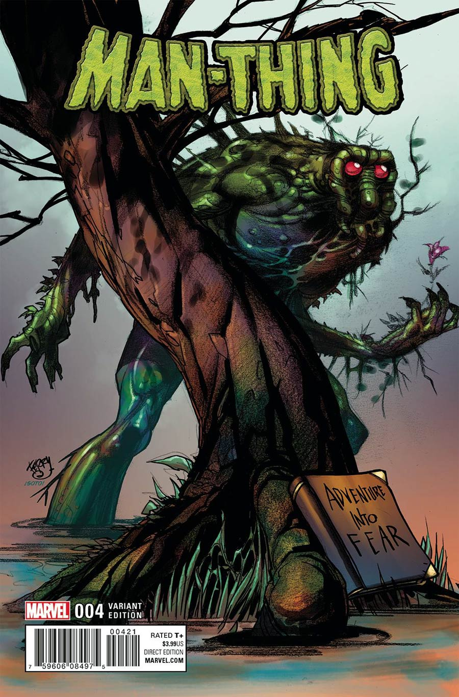 Man-Thing Vol 5 #4 Cover B Incentive Pasqual Ferry Variant Cover