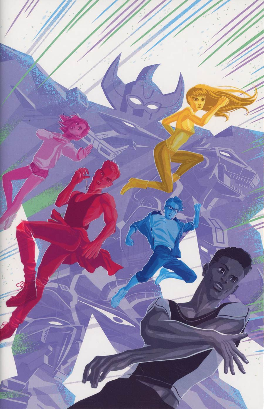 Mighty Morphin Power Rangers 2017 Annual #1 Cover C Incentive George Caltsoudas Acetate Virgin Variant Cover