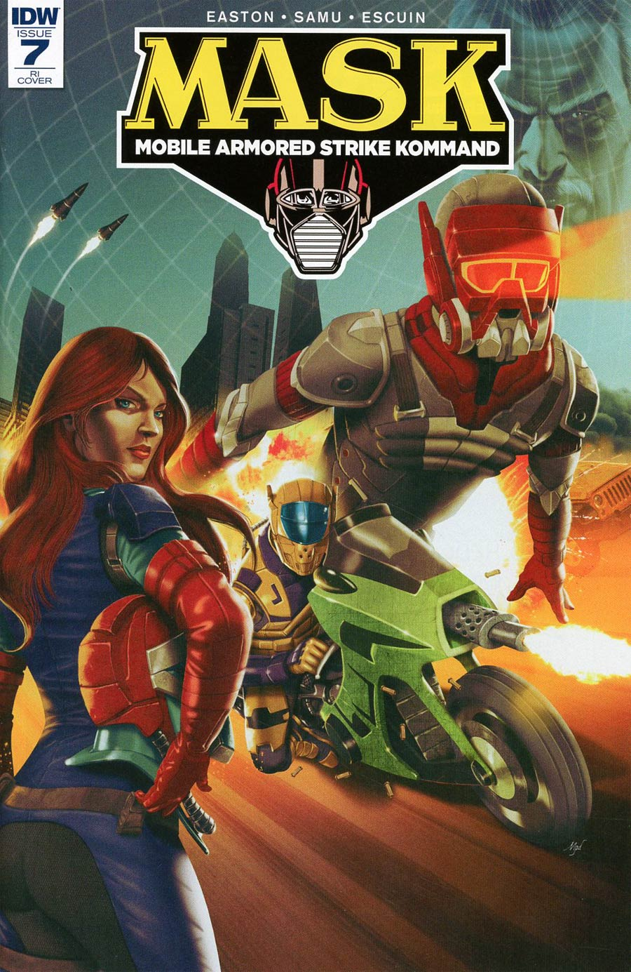 M.A.S.K. Mobile Armored Strike Kommand #7 Cover D Incentive Marcelo Perez Dalannys Variant Cover