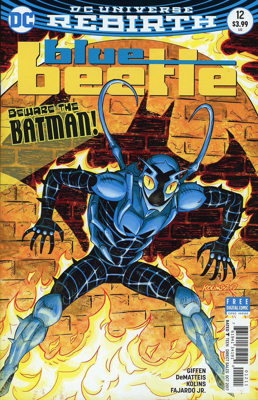 Blue Beetle (DC) Vol 4 #12 Cover A Regular Scott Kolins Cover