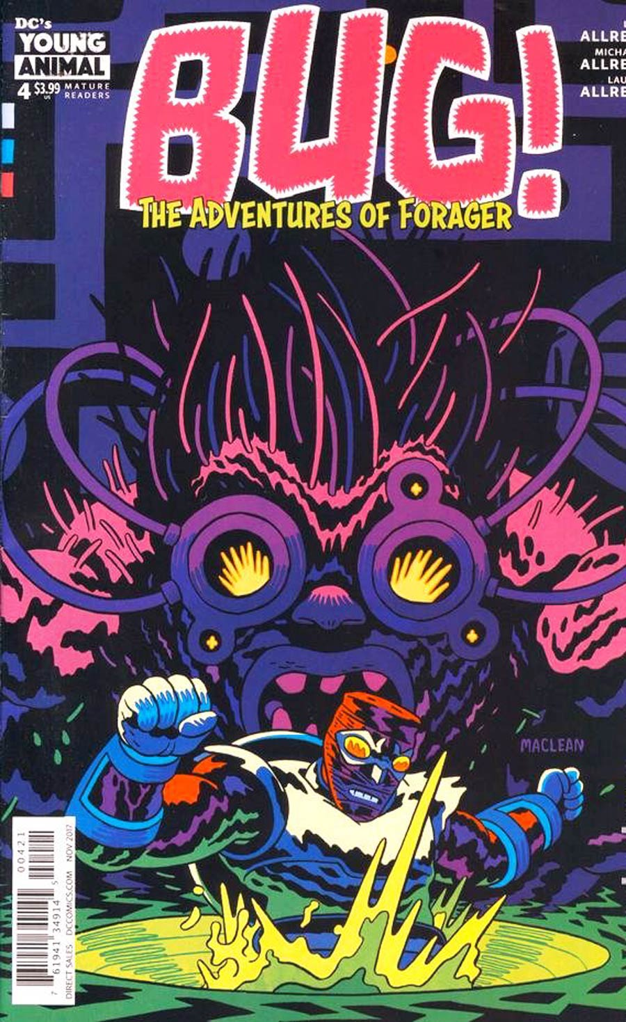 Bug The Adventures Of Forager #4 Cover B Variant Adam MacLean Cover