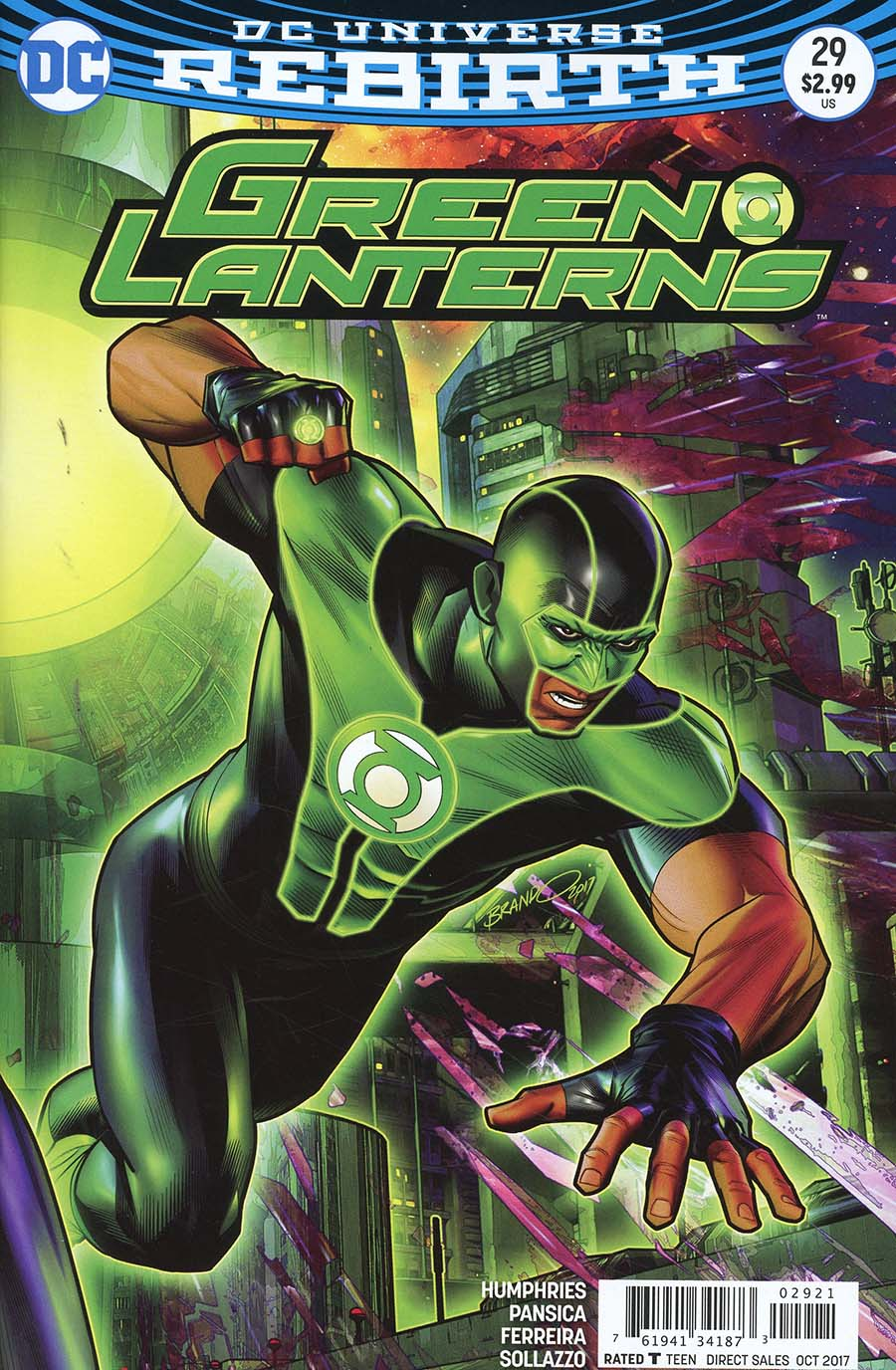 Green Lanterns #29 Cover B Variant Brandon Peterson Cover