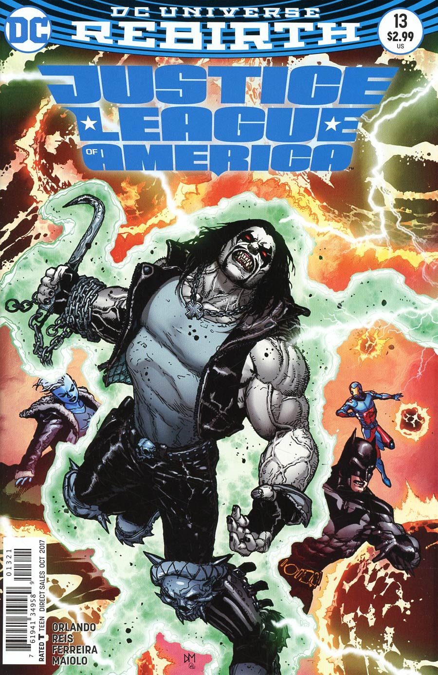 Justice League Of America Vol 5 #13 Cover B Variant Doug Mahnke Cover