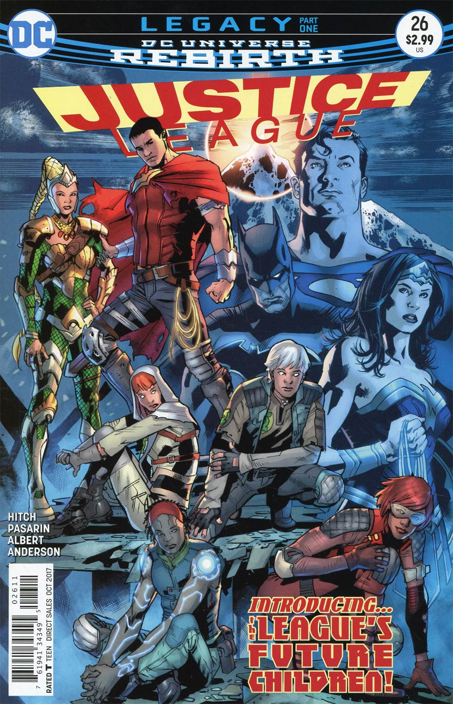 Justice League Vol 3 #26 Cover A Regular Bryan Hitch Cover