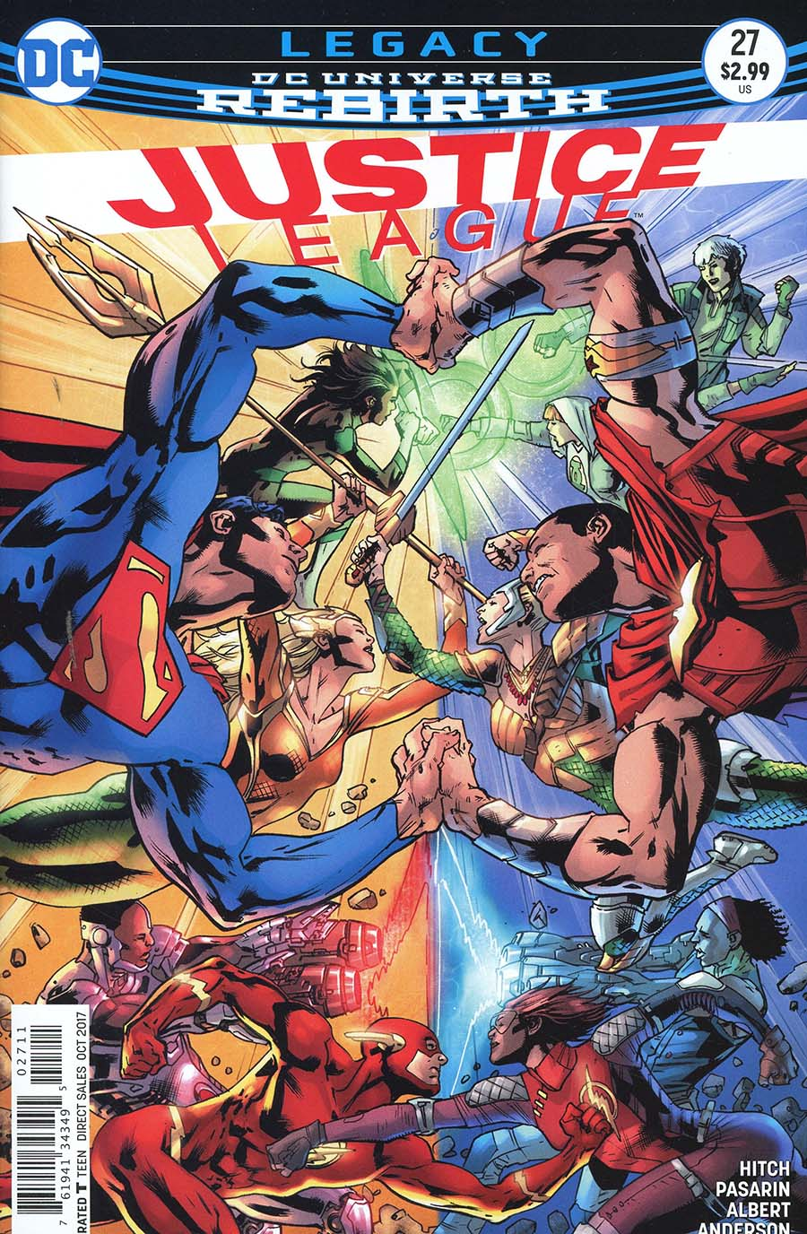 Justice League Vol 3 #27 Cover A Regular Bryan Hitch Cover