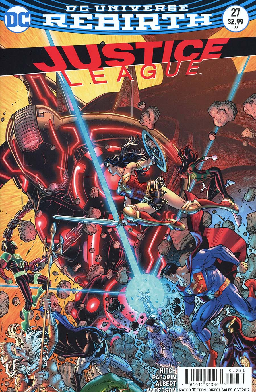 Justice League Vol 3 #27 Cover B Variant Nick Bradshaw Cover