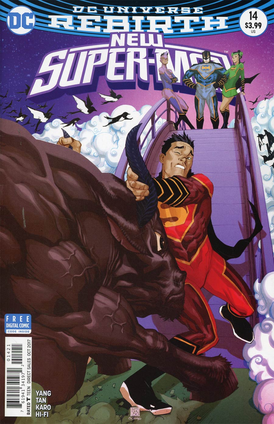 New Super-Man #14 Cover B Variant Bernard Chang Cover